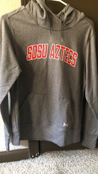 Gray and red San Diego state pullover hoodie San Diego, 92120
