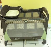 baby's black and gray Graco pack n play Alexandria, 22310