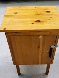 Small wood cabinet with lock latch Cambridge, N1T 1H1