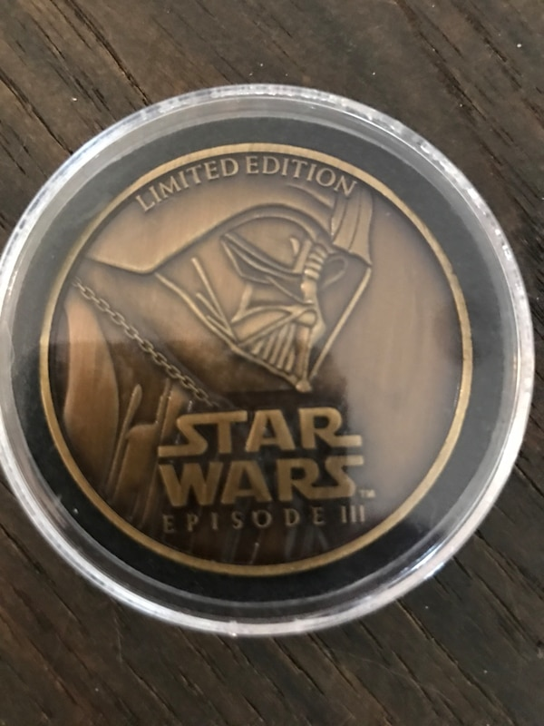 Used Round gold Star Wars Episode III Limited Edition coin for sale ... f3b2dfd2a