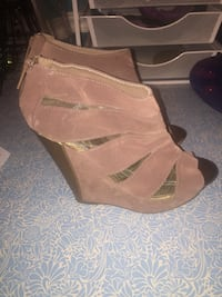 Taupe and. Copper wedge bootie size 10 Upper Marlboro, 20772