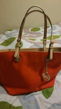 red Michael Kors leather tote bag Red Deer, T4P 1W7
