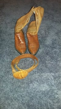 Leather boots size 8 1/2