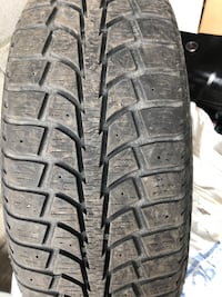 205 70 15 winter tires with rims  Mississauga, L4T 3A8