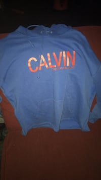 Blue and red Calvin Klein pullover hoodie Calgary, T2W 0R5