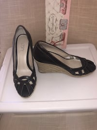 Ann Taylor Loft Leather Wedge Heels; New; never worn; stores in a separate shoebox Bowie, 20721