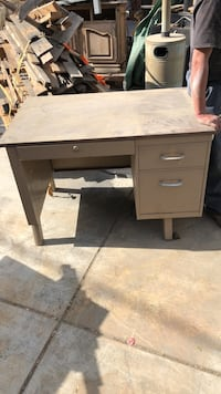 brown wooden single pedestal desk Bakersfield, 93307
