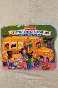 """Fisher Price Little People """"Flap"""" book,school theme"""