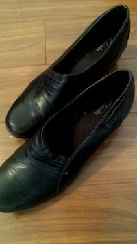 Womens black leather shoes North York, M3H