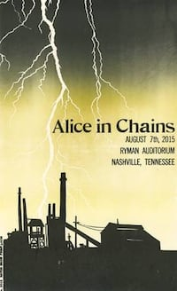 Alice In Chains Hatch Poster Nashville, 37211
