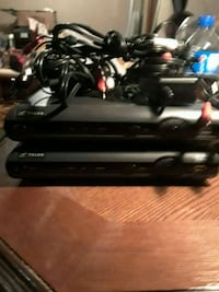 black Sony PS3 Slim with controllers 3153 km