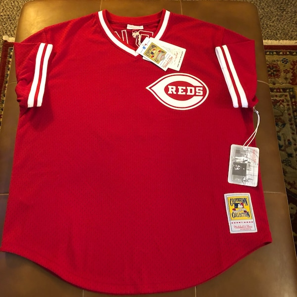 the best attitude 4c2b0 c944b Mitchell & Ness Cincinnati Reds Barry Larkin Jersey