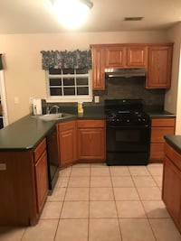 Kitchen cabinets with countertop