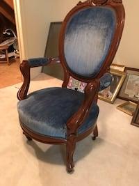 Blue wooden chair  Lutherville-Timonium, 21093