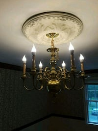 brass and white uplight chandelier Hyattsville, 20783