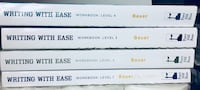 """Writing with Ease"" Workbooks (level 1-4) Please read description. $2 each Toronto, M1B 4X4"