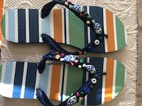 Decorated handmade flip flops for woman  Tampa, 33603