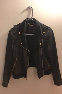 Real leather jacket black