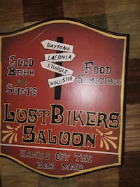 Wood wall sign sturgis