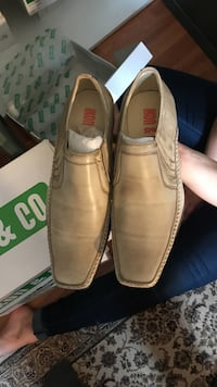 pair of gray boat shoes Sudbury, P3E 2C4
