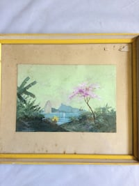 brown wooden framed painting of house near river Port Orchard, 98367