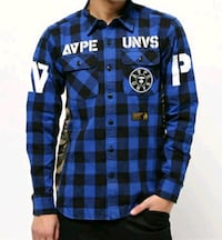 Aape check flannel size L  Vancouver, V5N 3N8