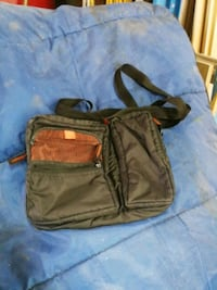 brown and black leather crossbody bag Québec, G2G 0C4