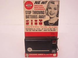 FEDTRO DELUXE BATTERY CHARGER WITH POSTER - 1965