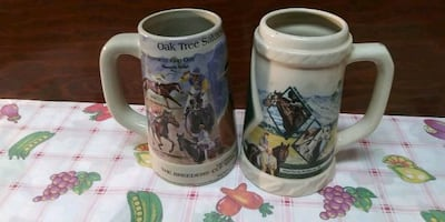 collectible Santa Anita Stein mugs