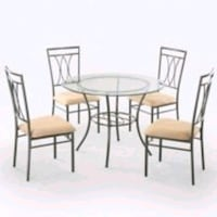 Mainstays 5-Piece Glass and Metal Dining Set Descr Houston, 77073