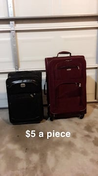 black and gray luggage bag Suitland, 20762