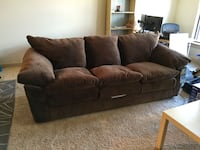 brown fabric 3-seat sofa Hagerstown, 21740
