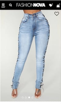 High Raise Lace Up Jeans | Brand New Surrey, V3R 3X1