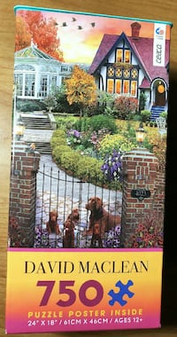 """Ceaco Maclean """"Conservatory House"""" 750pc Puzzle Sunnyvale, 94085"""
