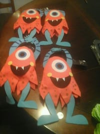 orange-and-teal Monster paper home decors San Diego, 92115