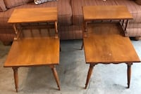 Two brown wooden side tables Newark, 43055