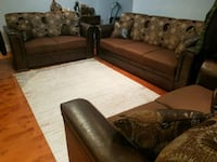 Leather/Fabric Couch Set  Toronto, M3M 2R9