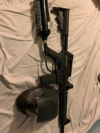 Paintball gun with tank, and mask, Las Vegas