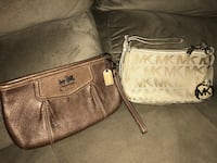 monogrammed brown Michael Kors leather handbag 2344 mi