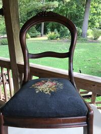Antique chair with needle point seat Camden, 27921