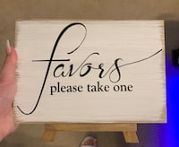 Wedding misc. favors sign Birmingham, 35243