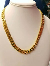 "20"" 10mm 14k Gold Plated Cuban Chain Mississauga"