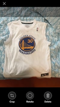 white and blue Golden State Warriors jersey Potomac, 20854