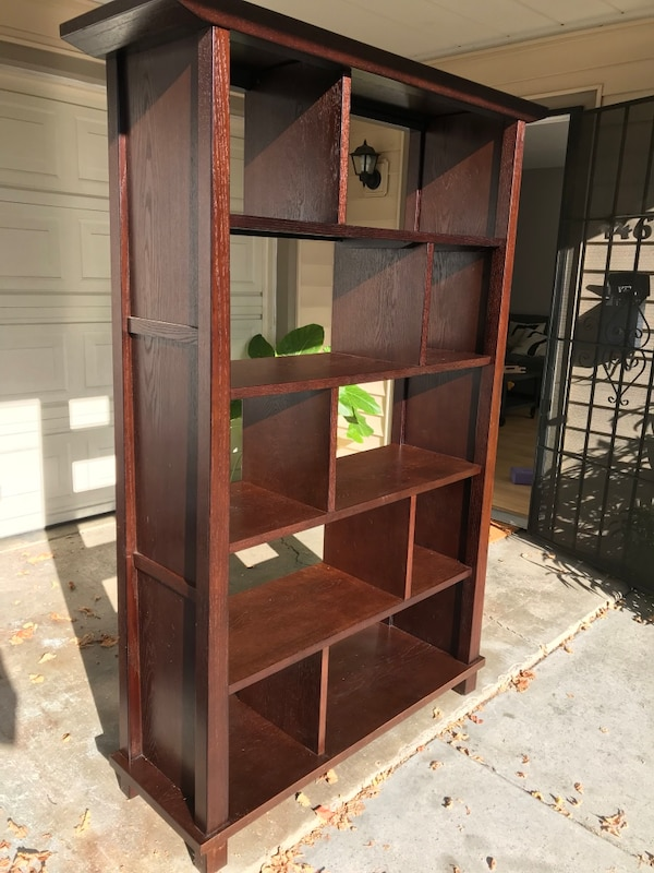 Used Dark Wood Bookshelf For Sale In Menlo Park