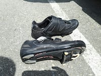 Road bike shoes and pedals Vancouver