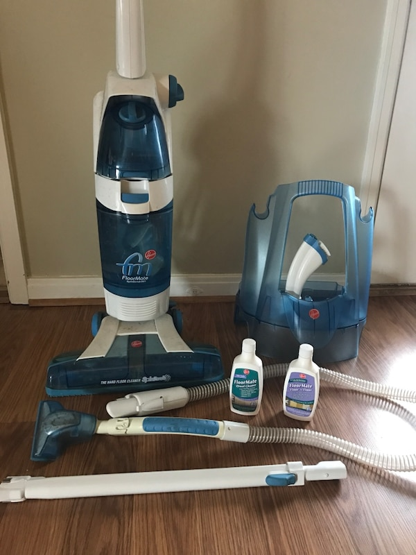 Used Hoover Floormate Spinscrub 801 Hard Floor Cleaner With Extensions And 2 Bottles Of Grout No Directions Included For In Watterson