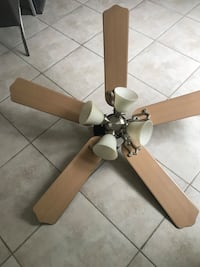 brown 5-blade ceiling fan 2253 mi