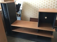 black and brown wooden TV stand Edmonton, T6K 2J9