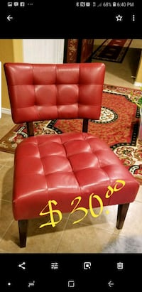 red leather padded rolling chair Little Elm, 75068