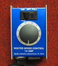 15 Amp Router Speed Control Norfolk